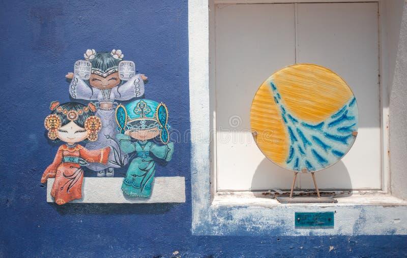 Penang Uliczna sztuka, Georgetown, Penang, Malezja obrazy stock