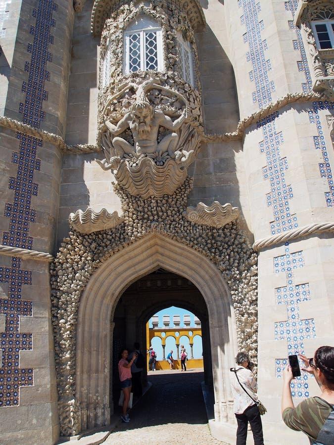 Penapaleis in sintra Portugal royalty-vrije stock foto's
