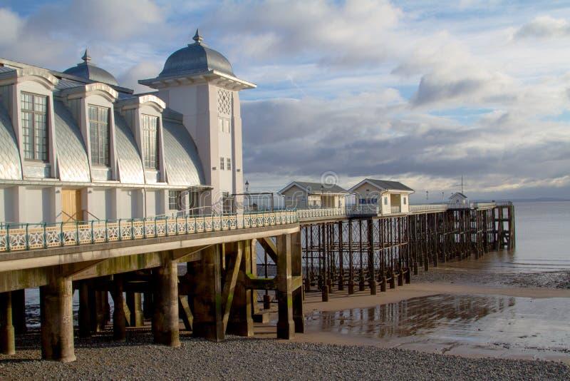 Penarth Pier lizenzfreie stockfotos
