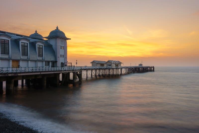 Penarth Pier, Pebble Beach and Sunrise stock photos