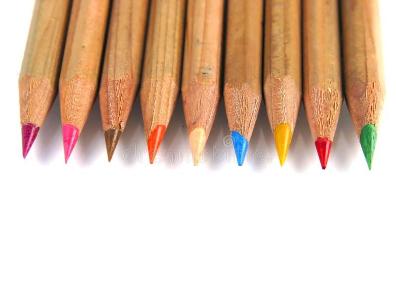 Penas coloridas (acima-vista) fotos de stock