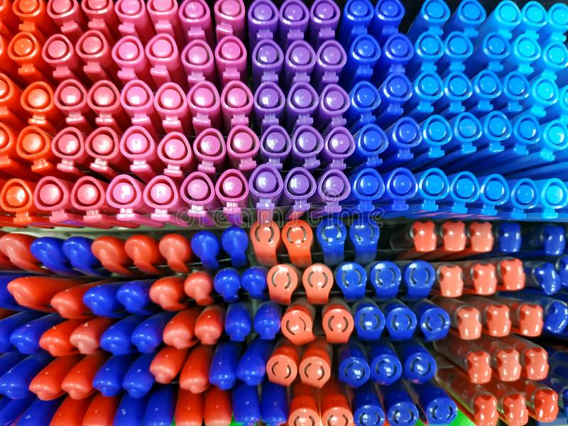 Penas coloridas fotografia de stock royalty free