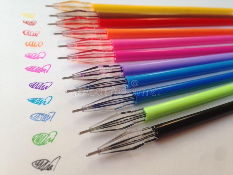 Penas coloridas macro fotografia de stock royalty free