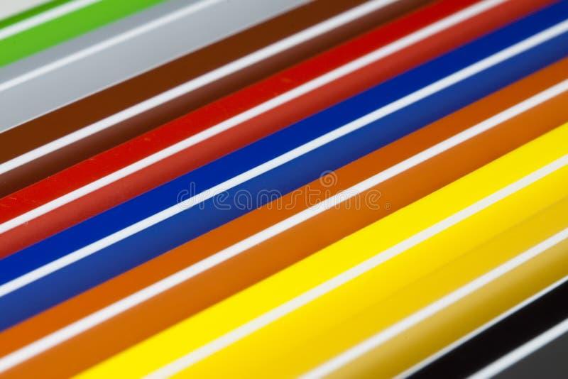 Penas de marcador coloridas imagens de stock