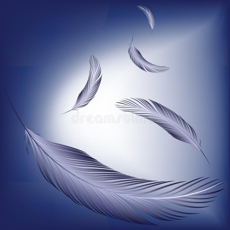 Penas no vento ilustração royalty free
