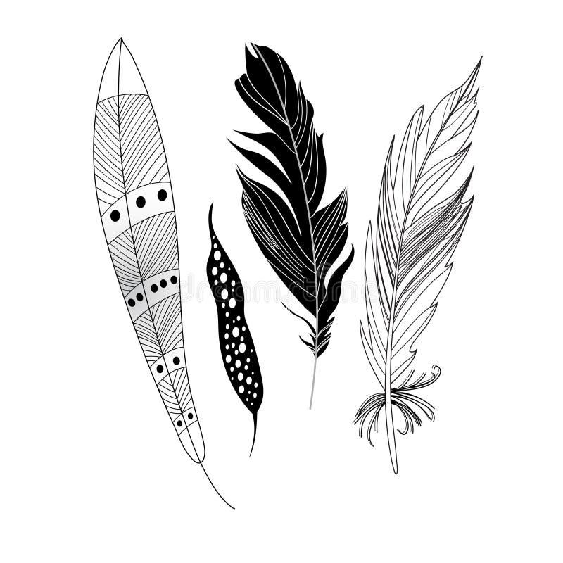 Download Penas pretas gráficas ilustração do vetor. Ilustração de hindu - 65575012