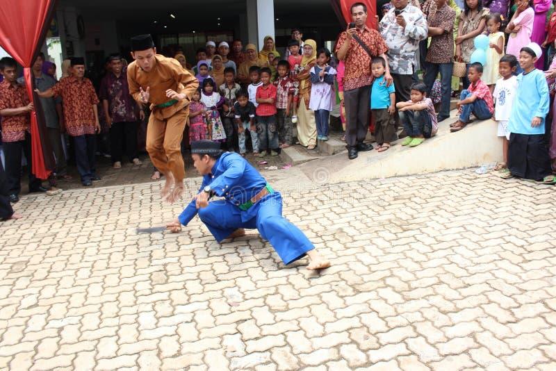 Pencak Silat Palang Pintu fotografia stock libera da diritti