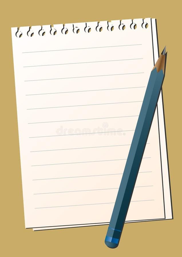 penci de papier illustration de vecteur