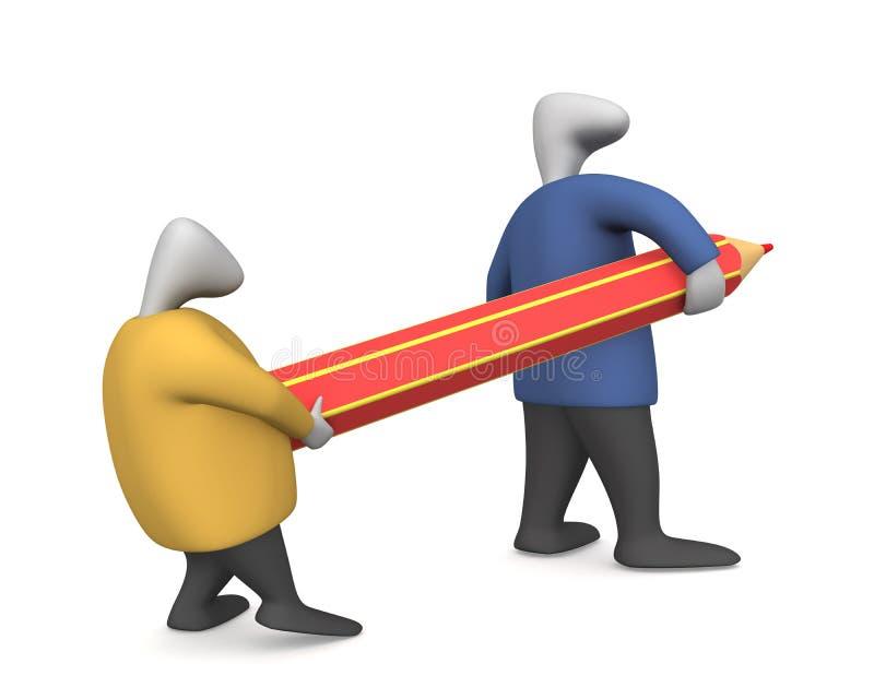 Download Pencil 2 stock illustration. Illustration of human, designing - 10615570