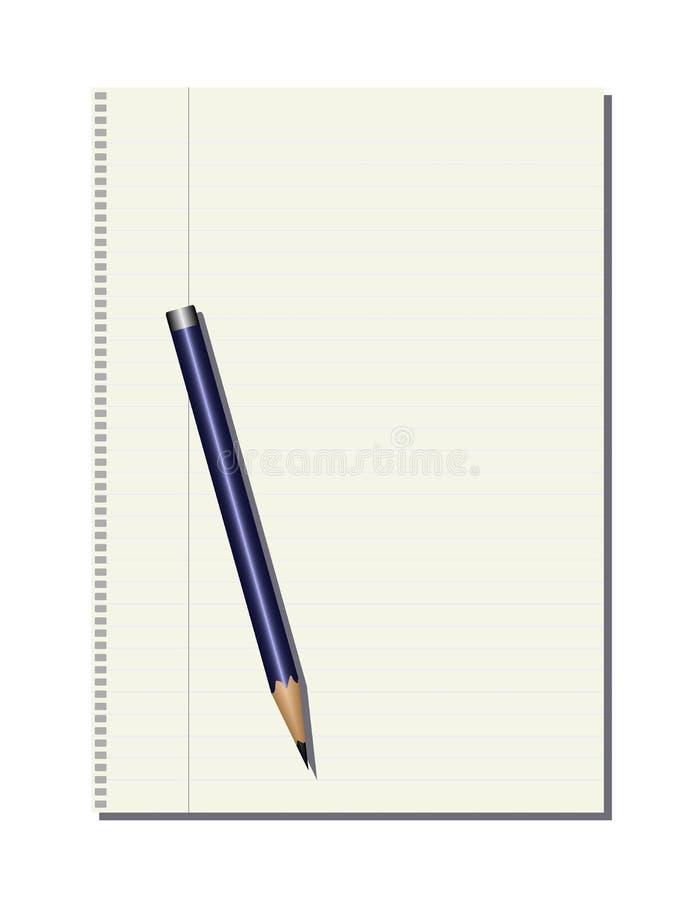 Download Pencil stock vector. Image of vector, list, paper, message - 7602771