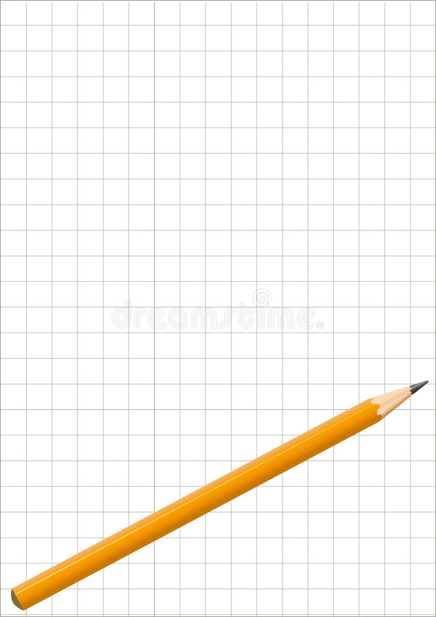 Download Pencil stock vector. Image of write, note, draw, background - 8413658