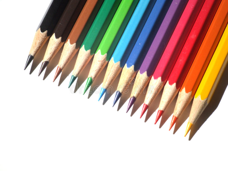Pencil. Color pencil royalty free stock photos