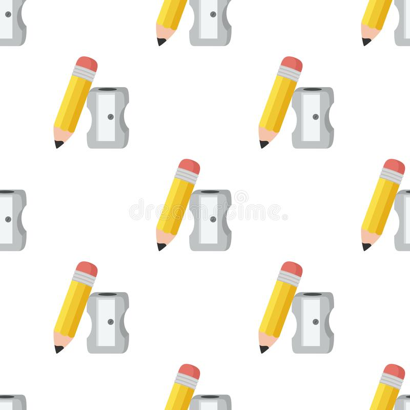 Free Pencil And Sharpener Icon Seamless Pattern Royalty Free Stock Photo - 101856475