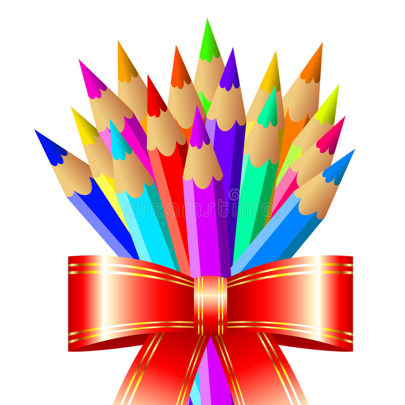Pencil Background Stock Image