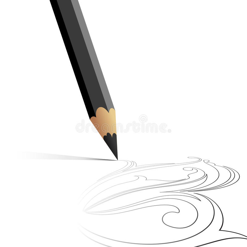 Download Pencil background stock vector. Image of office, backdrop - 13863434