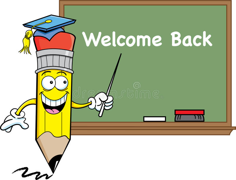 Download Pencil and a blackboard stock vector. Image of humorous - 25547886