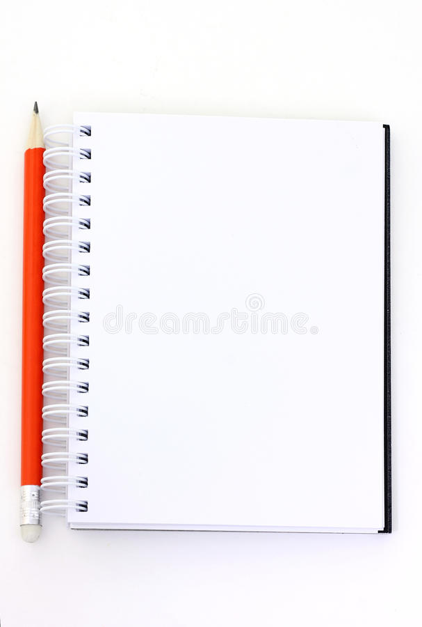 Pencil And Booklet Stock Photo