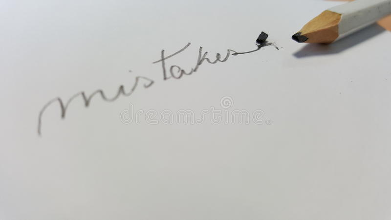 Pencil with broken tip Pencil with broken tip royalty free stock images