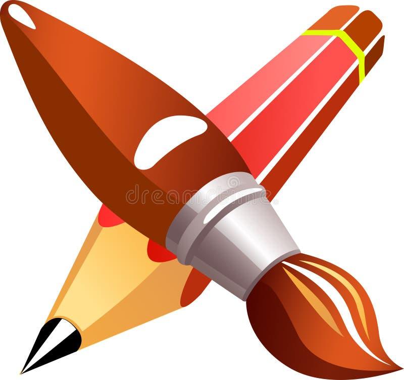 Download Pencil brush stock vector. Illustration of icon, brush - 22027499