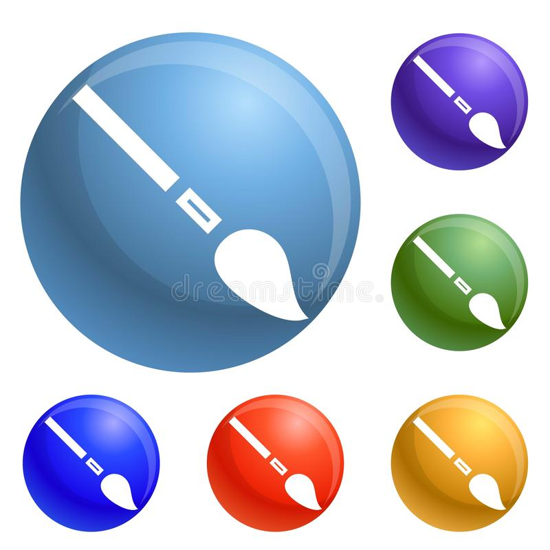 Pencil brush icons set vector vector illustration