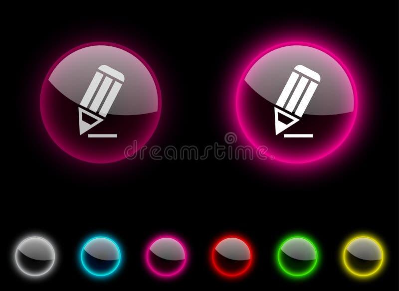Download Pencil button. stock vector. Image of bright, pencil - 14512785