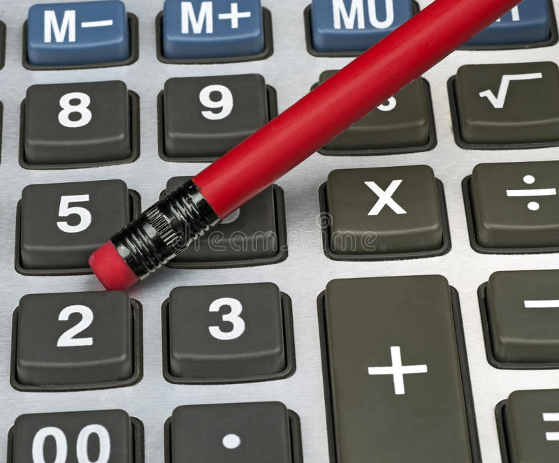 Download Pencil and calculator stock image. Image of mathematics - 22325343
