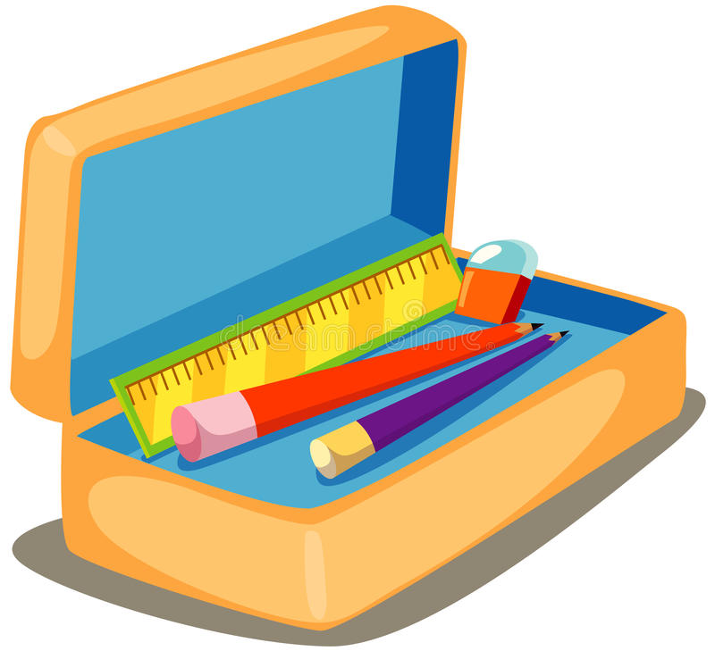 Pencil case stock illustration
