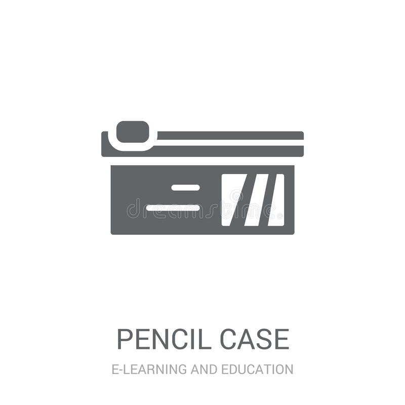 Pencil case icon. Trendy Pencil case logo concept on white background from E-learning and education collection vector illustration