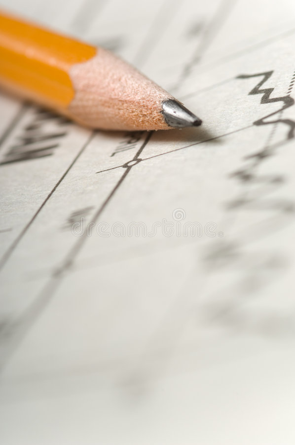 Download Pencil On Chart Royalty Free Stock Images - Image: 3501749