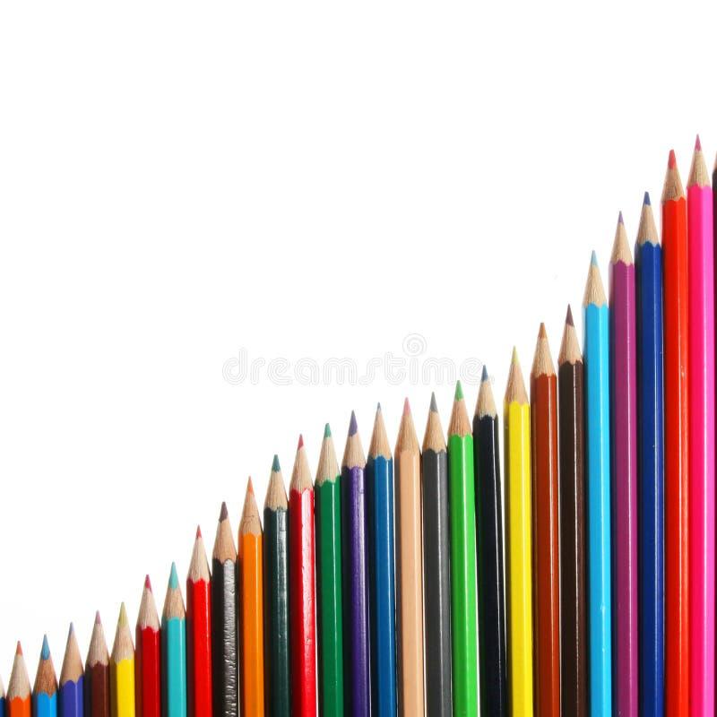 Pencil chart royalty free stock photo