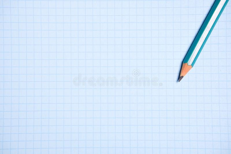 Pencil on a clean white paper sheet. The concept of education, business, entrepreneurship. stock photography