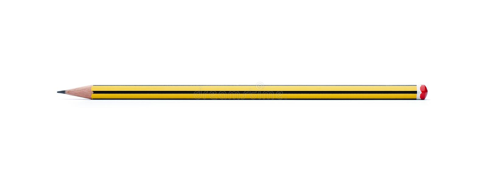 Pencil With Clipping Path Stock Images