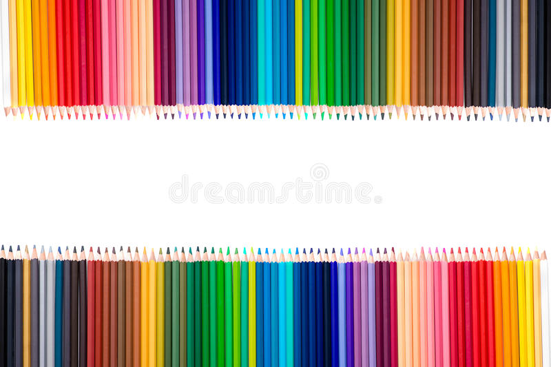 Pencil colors isolate royalty free stock image