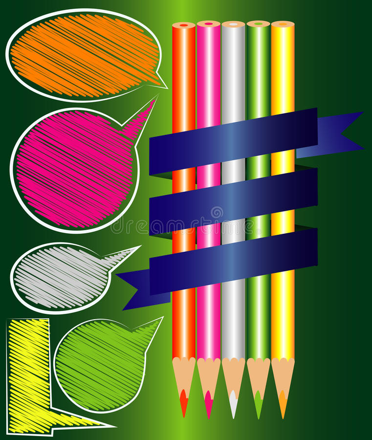 Free Pencil Colors Vector Royalty Free Stock Photography - 42847107