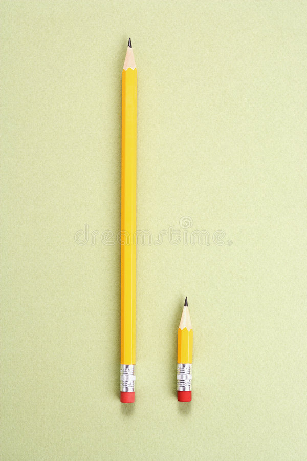 Pencil comparison. royalty free stock photo