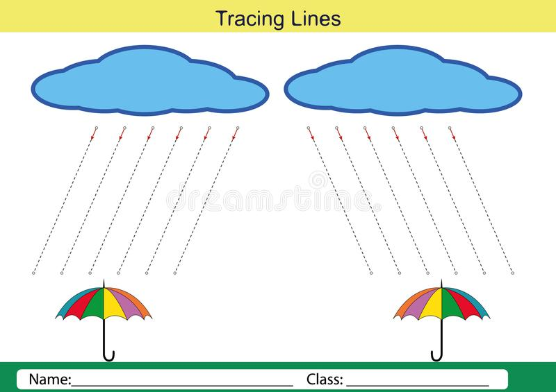 Follow the lines with your pencil vector illustration