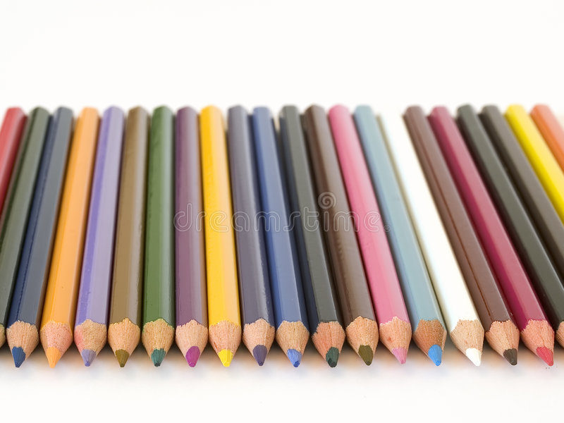 Download Pencil Crayons stock photo. Image of blue, pink, draw, wood - 165894