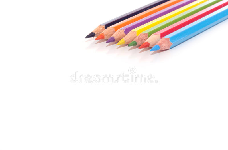 Download Pencil crayons stock photo. Image of color, pink, drawing - 22042282