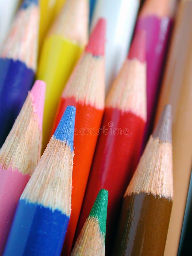 Pencil crayons stock photography