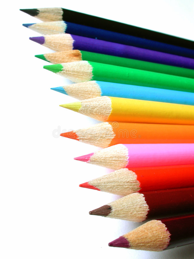 Pencil crayons stock image