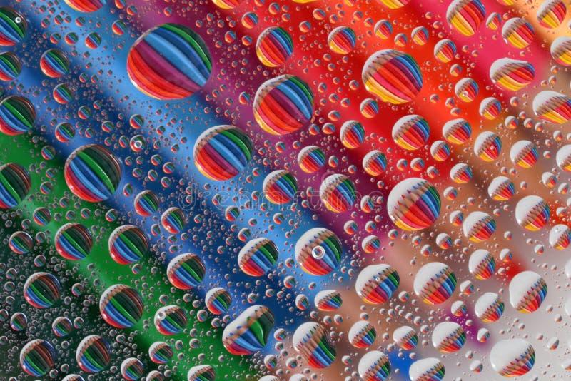 Pencil Crayons through Water Droplets (2) stock photos