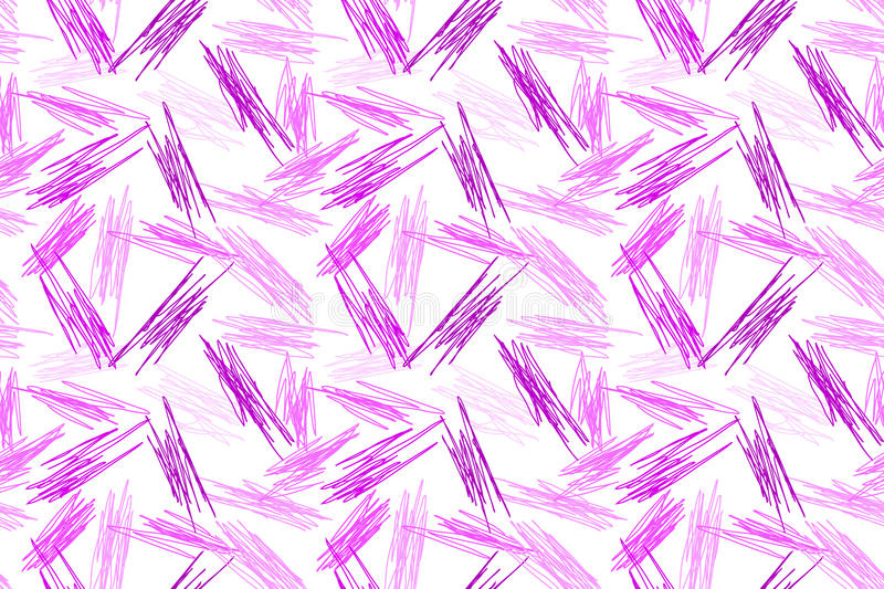Pencil doodle scribble seamless pattern stock illustration