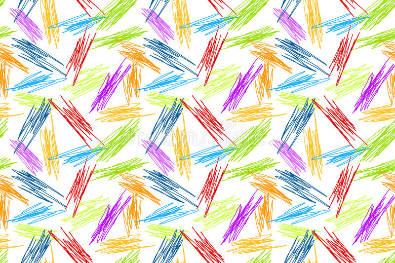 Download Pencil Doodles Seamless Rainbow Background Stock Photo - Image: 95195401