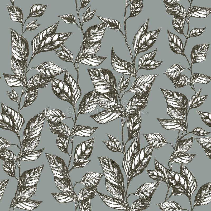 Pencil draw natrure background pattern royalty free stock photos