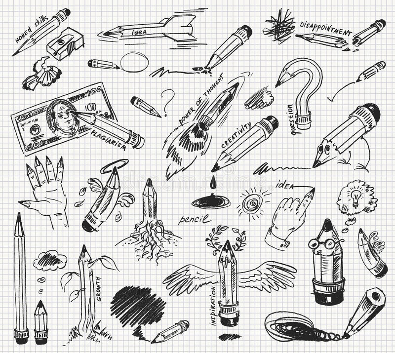 Free Pencil Drawing Royalty Free Stock Photography - 28094987