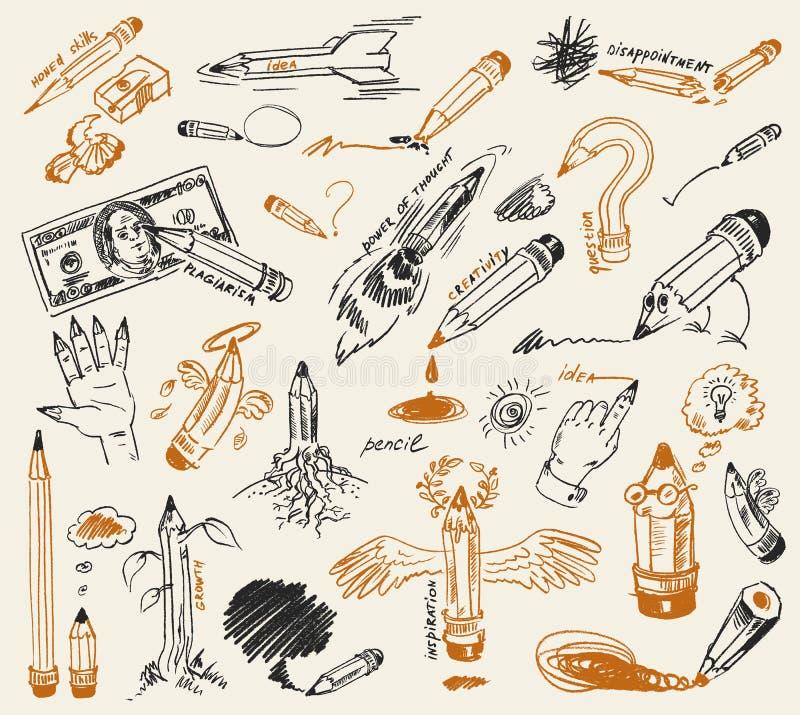 Free Pencil Drawing. Hand-drawn Stock Photo - 28095000