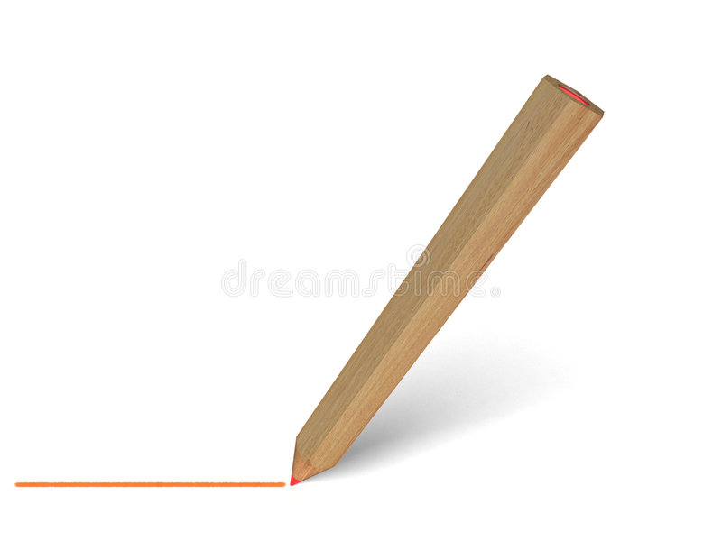 Pencil Drawing Line Stock Image