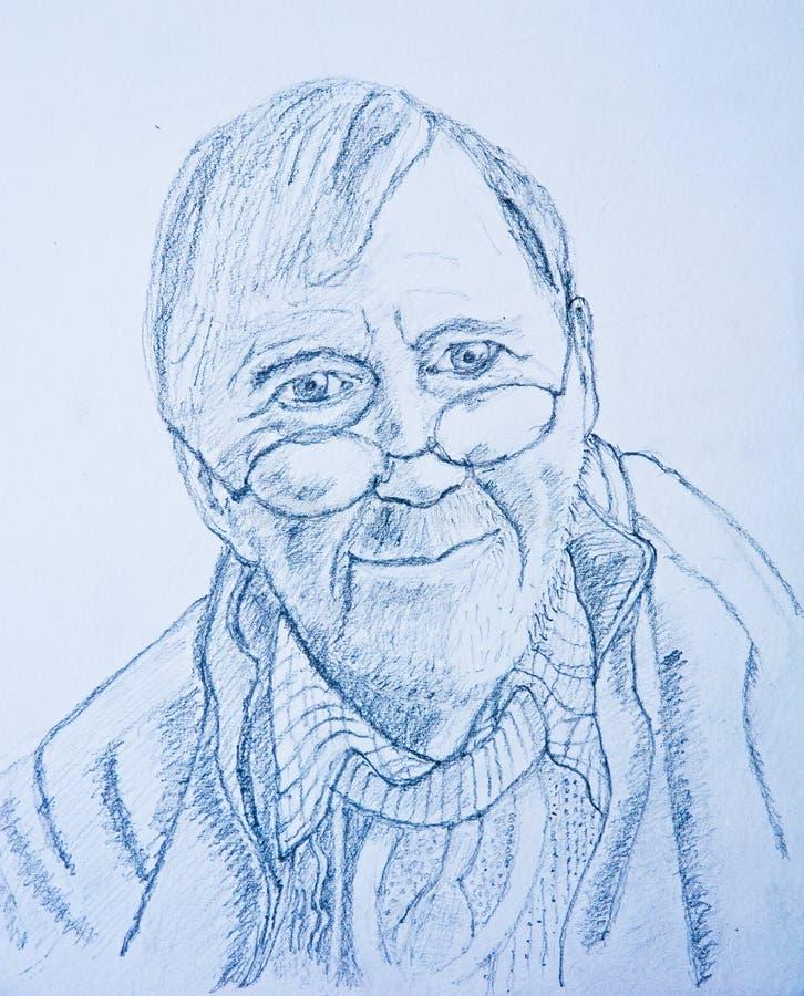 Pencil drawing: self portrait