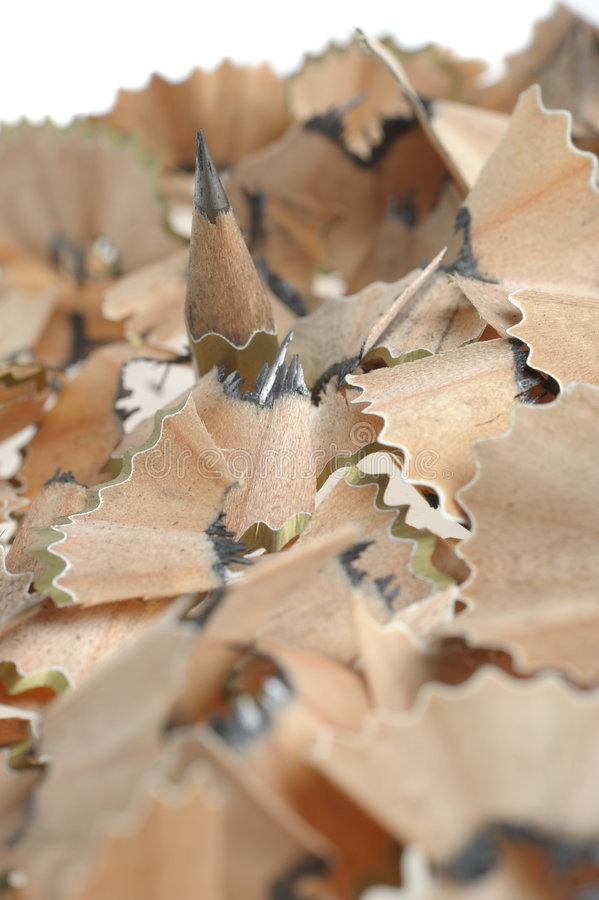 Download Pencil In An Environment Shavings Stock Photo - Image: 7553908