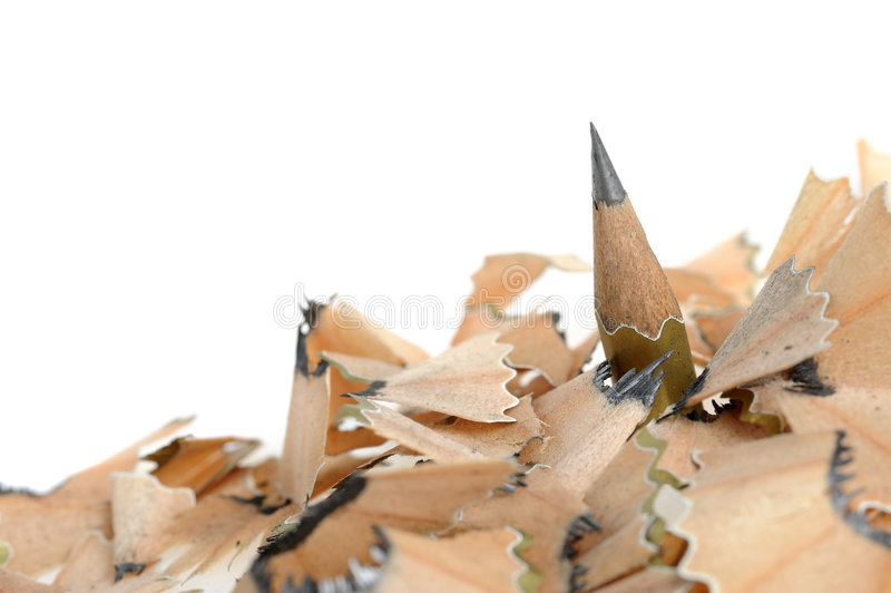 Download Pencil In An Environment Shavings Stock Photo - Image: 7618236